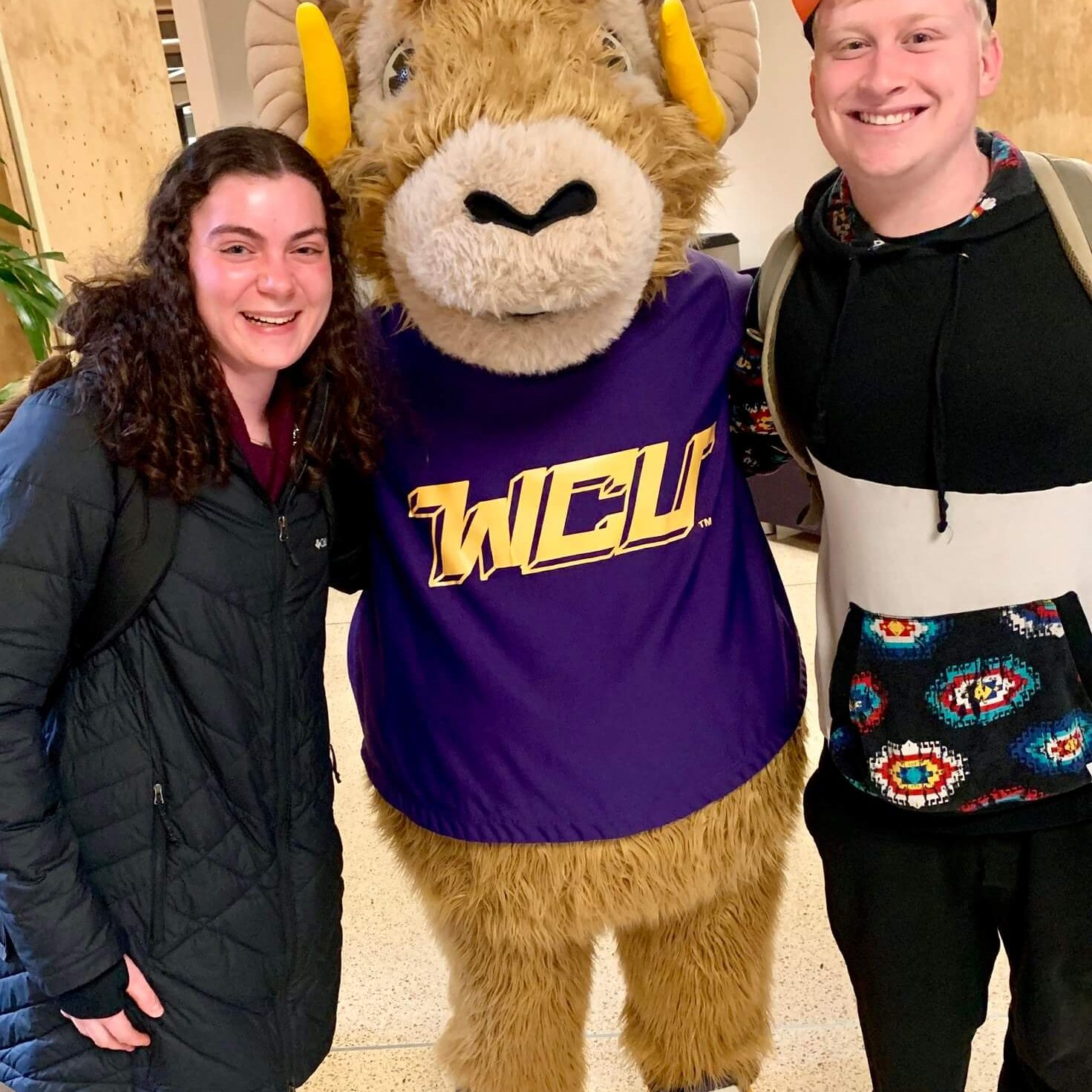 Greater Philly Hillel Network - West Chester University students with WCU mascot